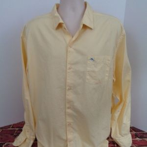 Tommy Bahama Mens Yellow LS Shirt Size XXL